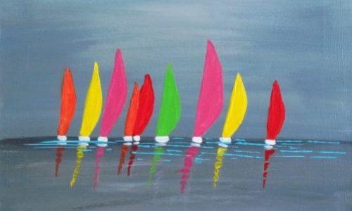 tableau bateau coloré-min